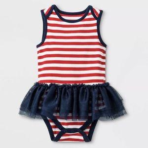 Baby Girls' Sleeveless Tutu Bodysuit - Newborn